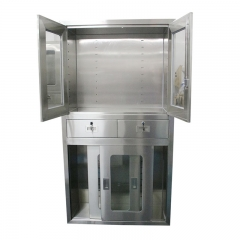 Hospital Furniture Instrument Stainless Steel Medical Cabinet With Solid Structure